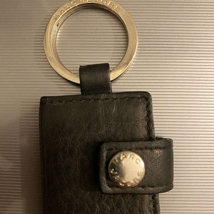Marc Jacobs leather photo keychain